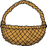 Doodle wicker basket Royalty Free Stock Photography