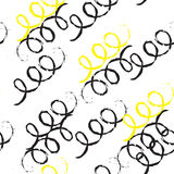 Doodle wiggle seamless repeatable pattern. Stock Photography