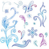 Doodle winter design elements Royalty Free Stock Image