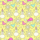 Doodle winter pattern Stock Images