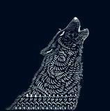 Doodle wolf illustration Stock Photography