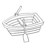 Doodle of Wooden Row Boat Royalty Free Stock Photography