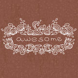Doodle word in curled frame Royalty Free Stock Image