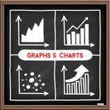 Doodle wykresu ikony ustawiać Obraz Stock