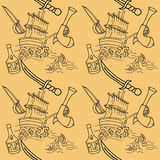 Doodle wzór Zdjęcia Royalty Free
