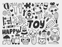 Doodle zabawkarski tło Fotografia Royalty Free