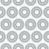 Doodle zentangle floral pattern. Seamless monochrome vector. Pattern swatches included in eps-file, for your convenient use vector illustration