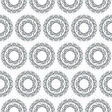 Doodle Zentangle kwiecisty wzór Bezszwowy monochromatyczny wektor Obrazy Stock