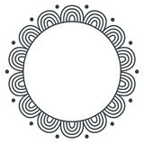 Doodle zentangle monochrome vector frame on white background. Doodle zentangle monochrome vector illustration vector illustration