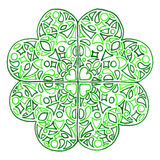 Doodle zentangle shamrock świętego Patrick koniczynowy dzień Zdjęcia Stock