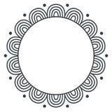 Doodle zentangle wektoru monochromatyczna rama na białym tle Fotografia Stock