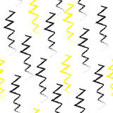 Doodle zig zag seamless repeatable pattern. Stock Images