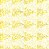 Doodled yellow triangles seamless pattern vector illustration