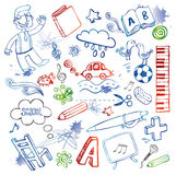 doodles θέστε Στοκ Εικόνες
