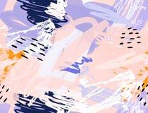 Doodles με το κραγιόνι και grunge τραχύς σύστασης που σύρεται διανυσματική απεικόνιση
