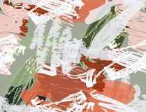 Doodles με το κραγιόνι και grunge τραχύς σύστασης που σύρεται απεικόνιση αποθεμάτων