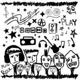 doodles μουσική μερικοί Στοκ φωτογραφία με δικαίωμα ελεύθερης χρήσης