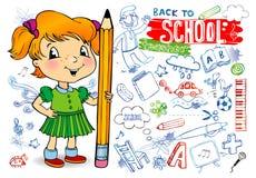 doodles σχολείο Στοκ εικόνες με δικαίωμα ελεύθερης χρήσης