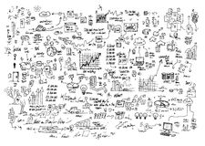 Doodles της εργασίας στοκ φωτογραφίες με δικαίωμα ελεύθερης χρήσης