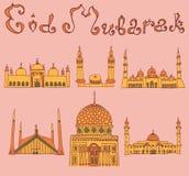 Doodles των μουσουλμανικών τεμενών Στοκ φωτογραφίες με δικαίωμα ελεύθερης χρήσης