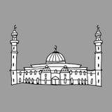 Doodles των μουσουλμανικών τεμενών Στοκ Εικόνα