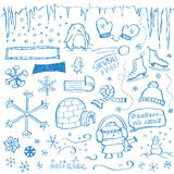doodles χειμώνας Στοκ Φωτογραφίες