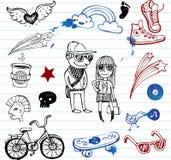 doodles битники иллюстрация штока