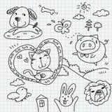 Doodles бумаги тетради Стоковое фото RF
