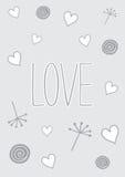 Doodles влюбленности Стоковые Изображения RF