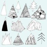 Doodles горы Стоковое Изображение