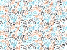 doodles делают по образцу безшовное Стоковые Изображения