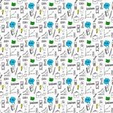 doodles делают по образцу безшовное Стоковая Фотография