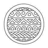 Doodles заполнили круг иллюстрация вектора