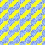 Doodles картина предпосылки seashells безшовная Стоковое Изображение RF