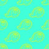 Doodles картина предпосылки seashells безшовная Стоковое Фото