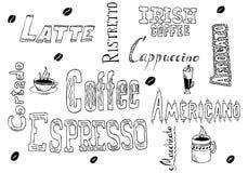 doodles кофе иллюстрация вектора
