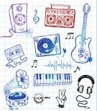 Doodles музыки Стоковые Изображения