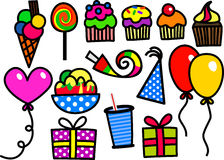 Doodles партии детей бесплатная иллюстрация