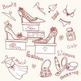doodles предпосылки Стоковое Фото