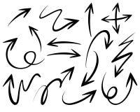 Doodles различных наконечников стрелы бесплатная иллюстрация