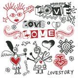doodles смешная влюбленность Стоковая Фотография RF