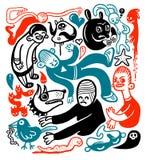 doodles смешное Стоковая Фотография RF