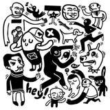 doodles смешное Стоковые Фото