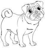 Doodles чертя животное для маленькой собаки Стоковая Фотография RF