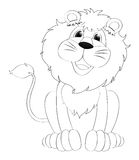 Doodles чертя животное для льва Стоковые Изображения RF