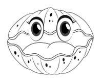 Doodles чертя животное для seashell Стоковое Изображение