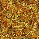 Doodles шаржа нарисованные вручную на предмете Стоковые Фотографии RF