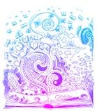Doodles эскиза книги Стоковая Фотография RF