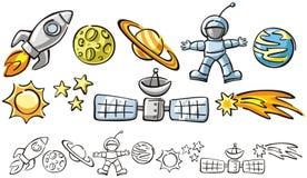Doodles - элементы космоса Стоковое фото RF