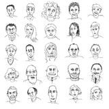 Doodles людей стоковая фотография